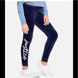 [Justice] Lace Up Velour Joggers